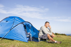 Man Camping Outdoors ED